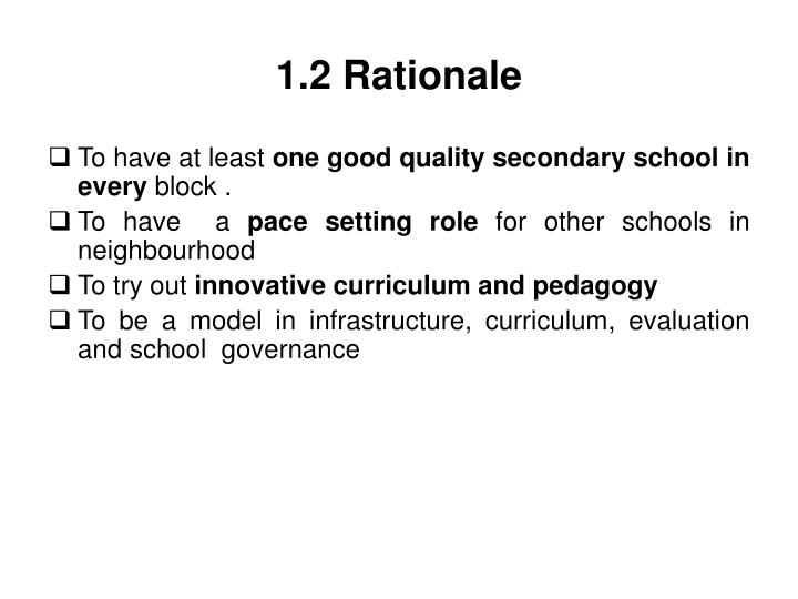1 2 rationale