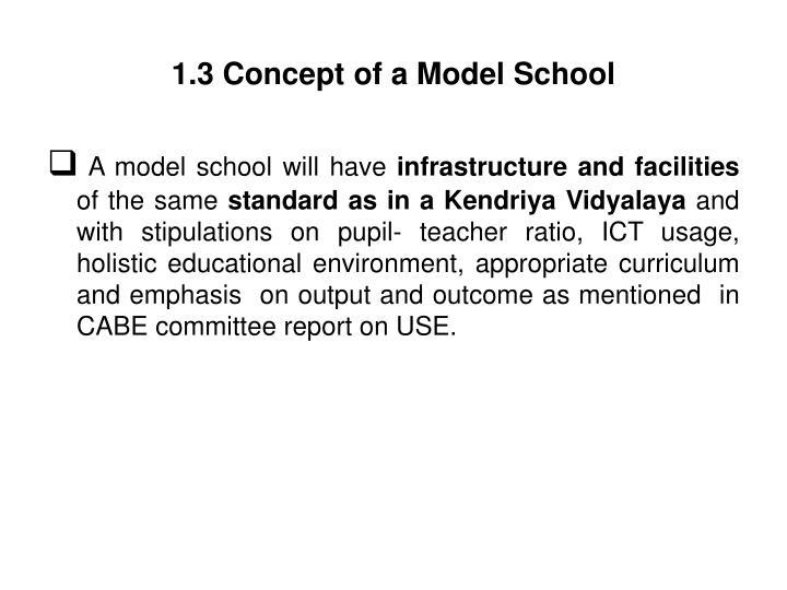 1.3 Concept of a Model School