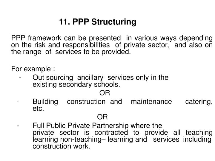 11. PPP Structuring