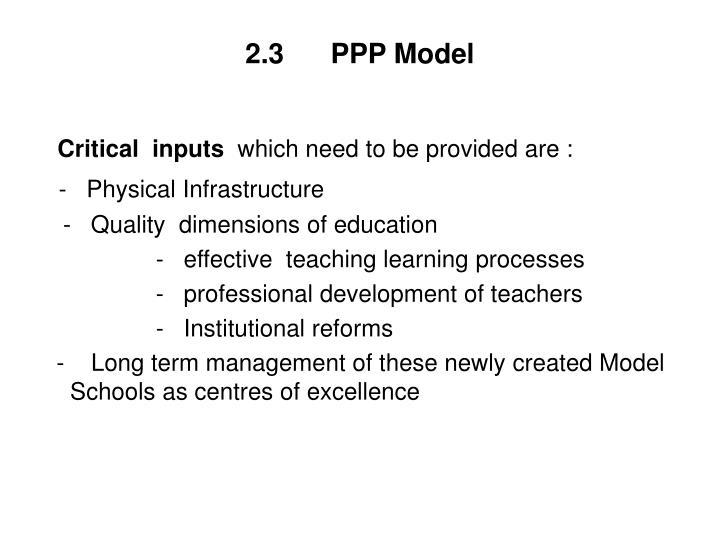 2.3      PPP Model