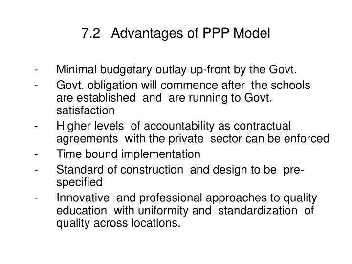 7.2   Advantages of PPP Model