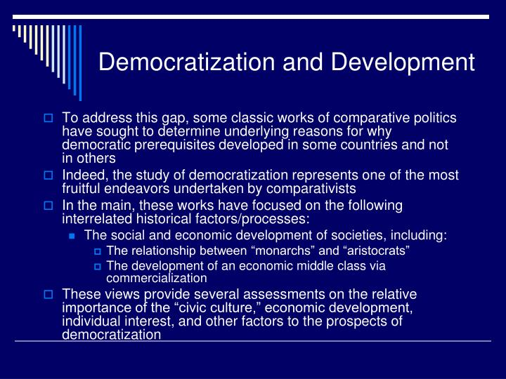 Democratization and development1