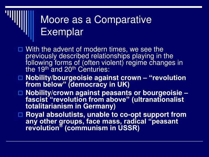 Moore as a Comparative Exemplar
