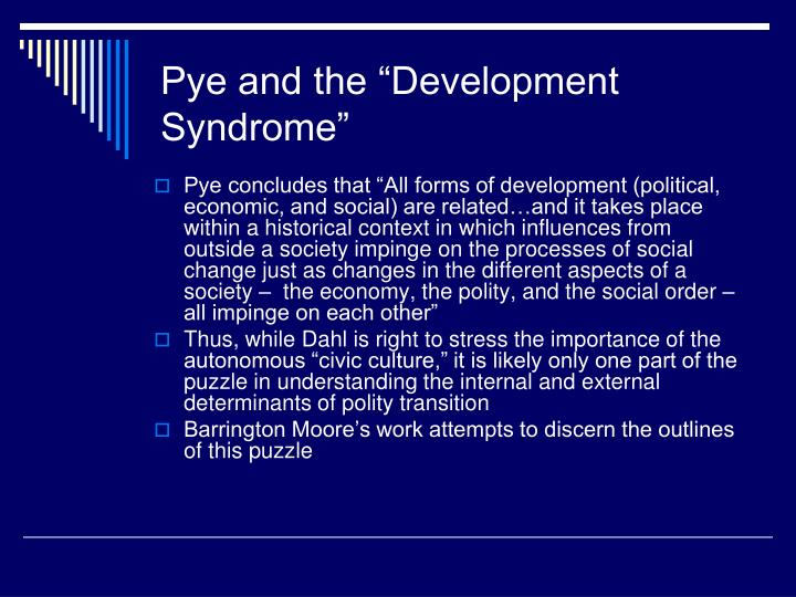 "Pye and the ""Development Syndrome"""