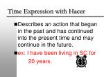 time expression with hacer1