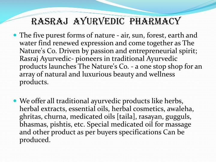 Rasraj  Ayurvedic  Pharmacy