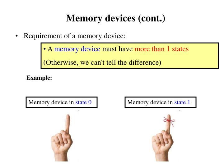 Memory devices (cont.)