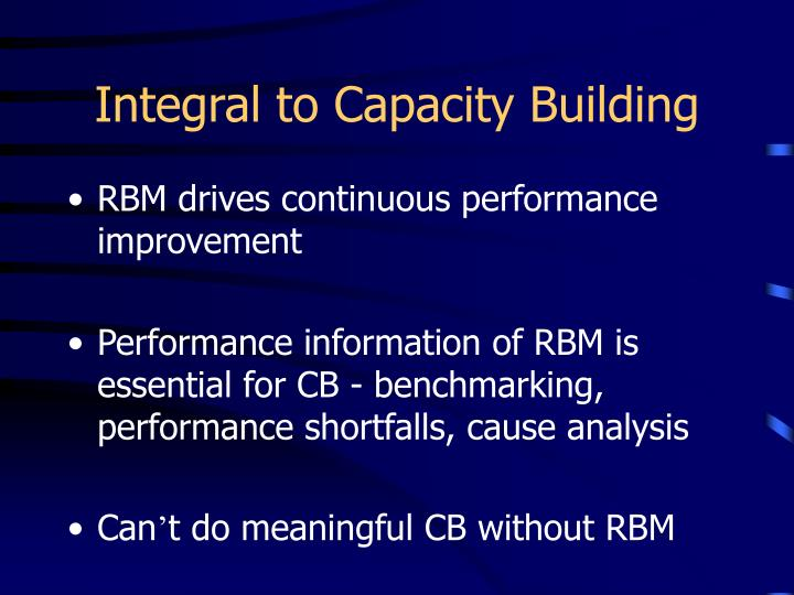 Integral to Capacity Building