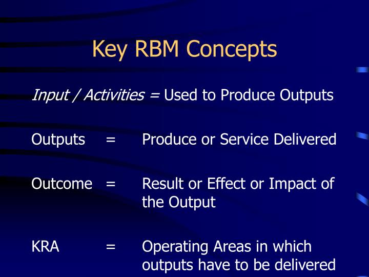 Key RBM Concepts