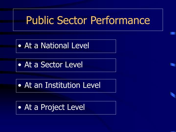 Public Sector Performance