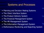 systems and processes1