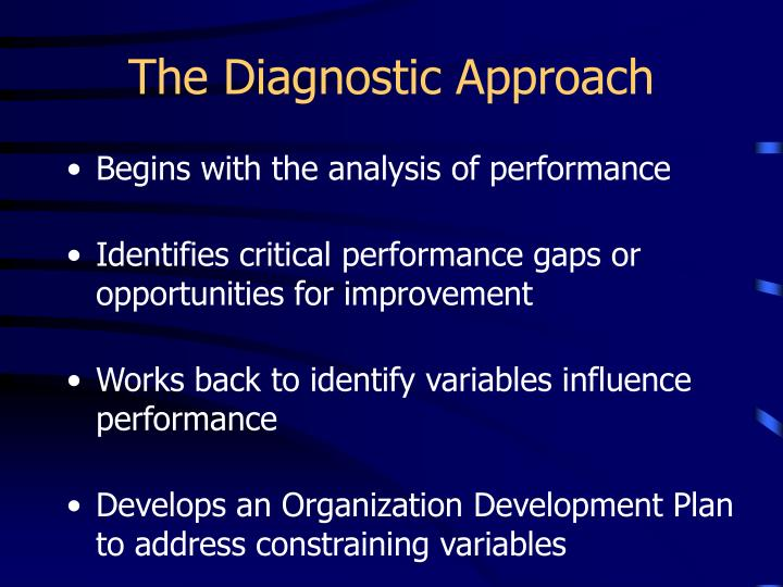 The Diagnostic Approach