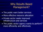 why results based management