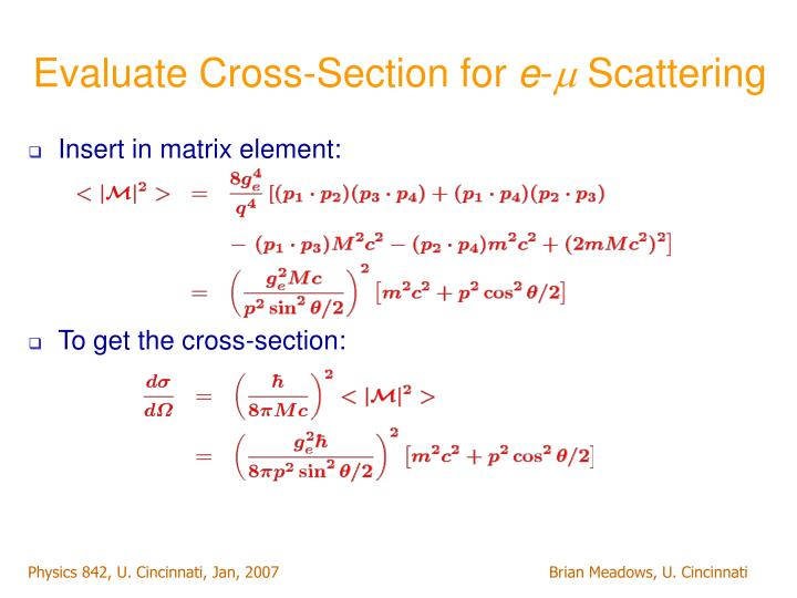 Evaluate Cross-Section for