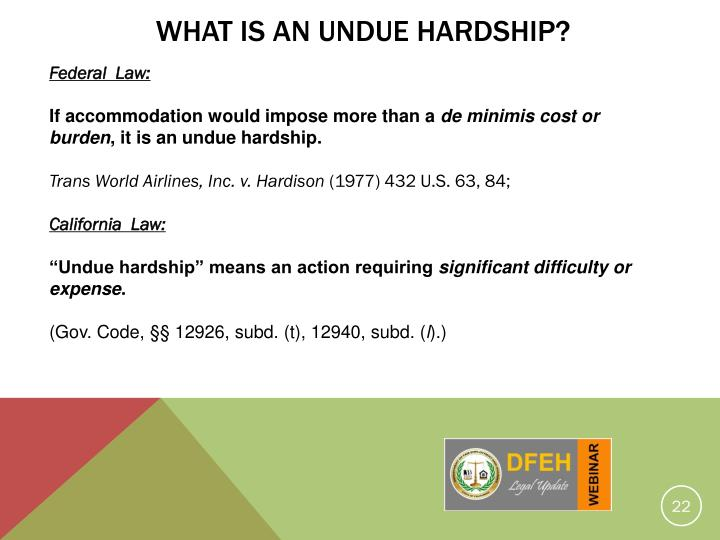 What Is An Undue Hardship?