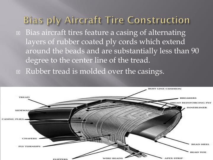 Bias ply aircraft tire construction