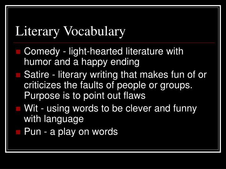 Literary Vocabulary