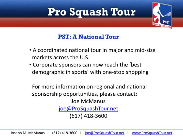 PST: A National Tour