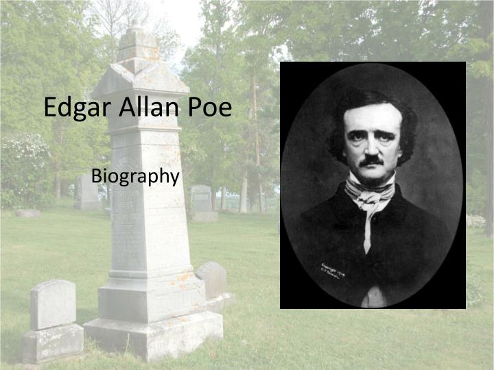 edgar allan poe author study essay