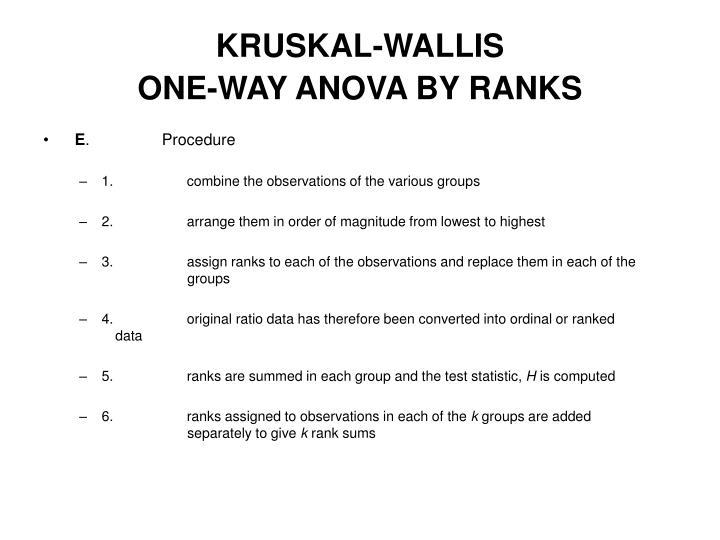 KRUSKAL-WALLIS