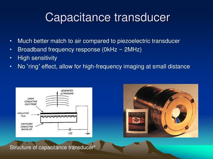 Capacitance transducer