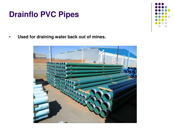 Drainflo PVC Pipes