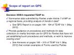 scope of report on qps
