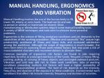 manual handling ergonomics and vibration