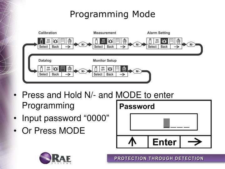Programming Mode