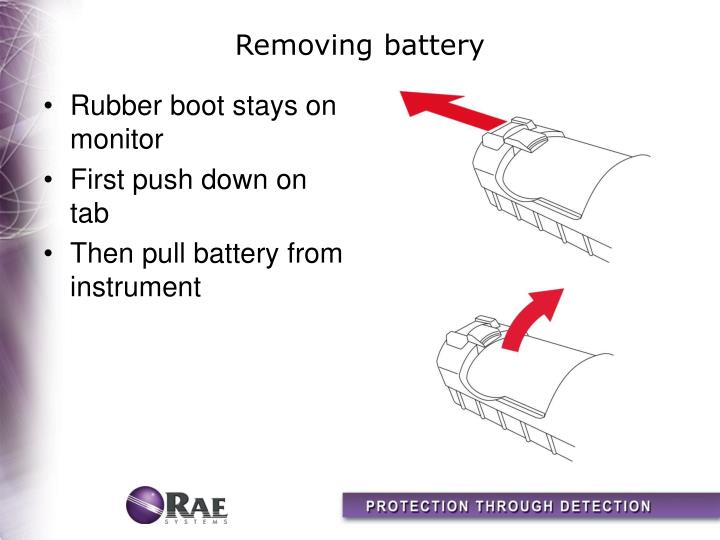 Removing battery