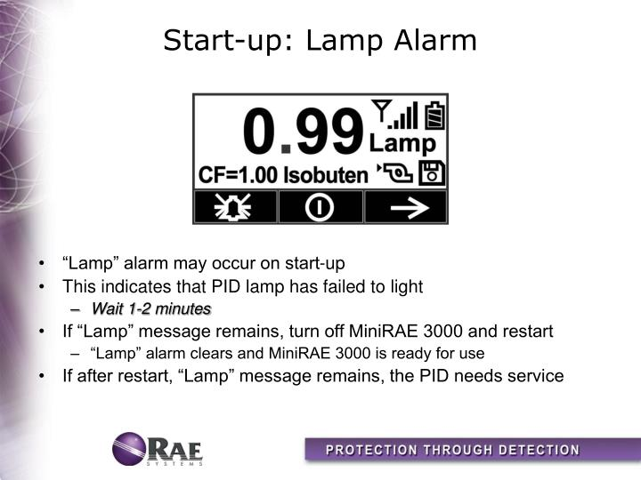 Start-up: Lamp Alarm