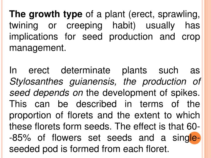 The growth type