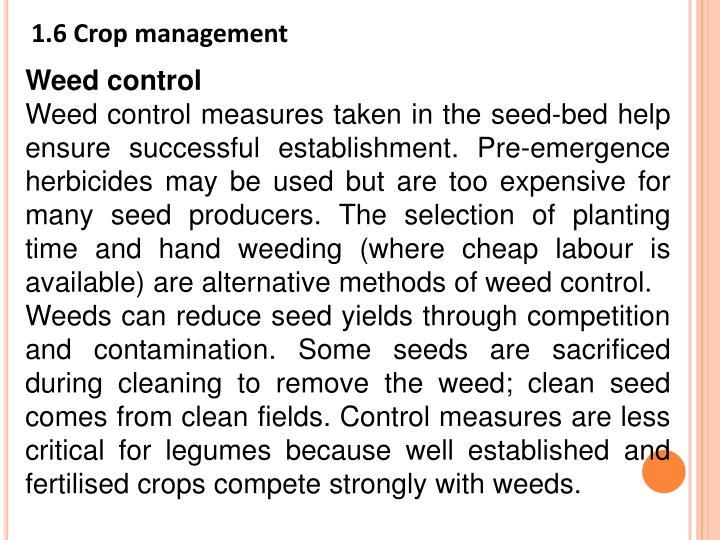 1.6 Crop management