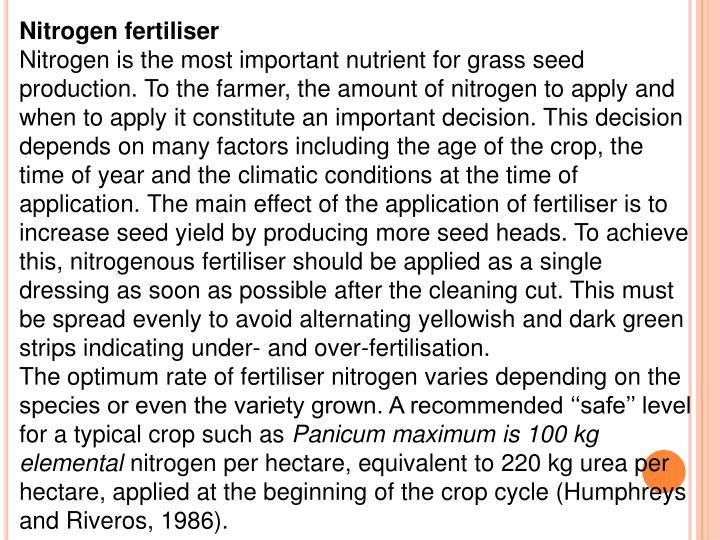 Nitrogen fertiliser