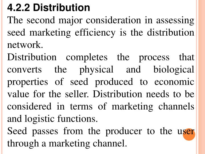 4.2.2 Distribution