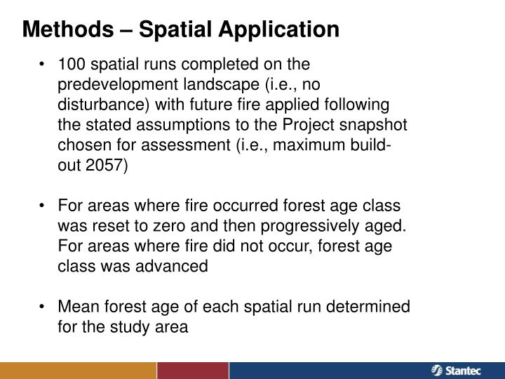 Methods – Spatial Application