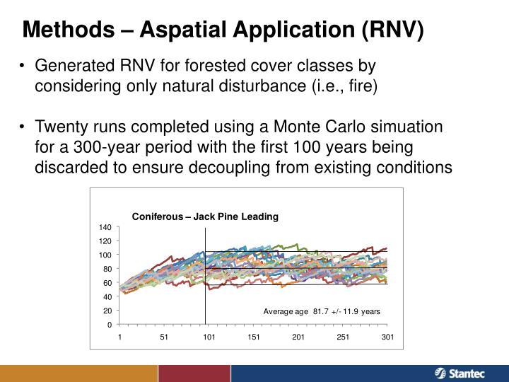 Methods – Aspatial Application (RNV)