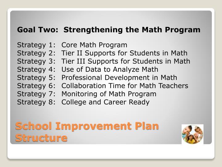 Goal Two:  Strengthening the Math Program