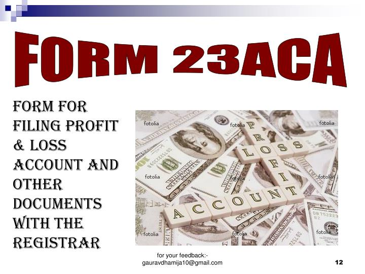 FORM 23ACA