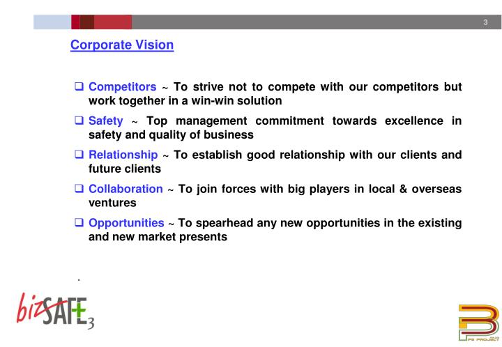 Corporate vision