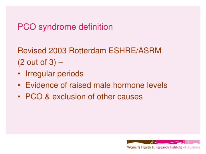 PCO syndrome definition