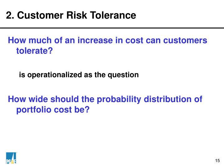 2. Customer Risk Tolerance