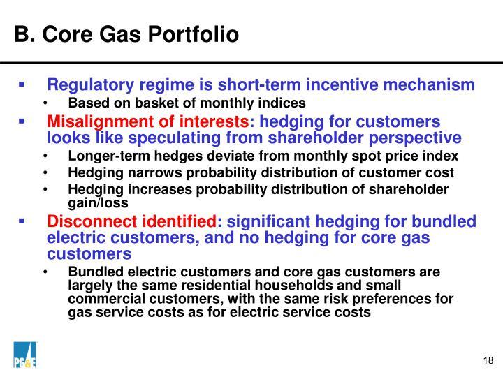 B. Core Gas Portfolio