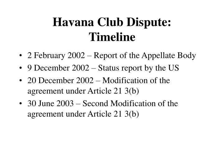 Havana Club Dispute: