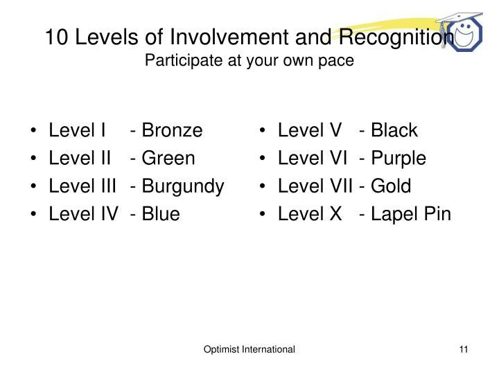 Level I- Bronze