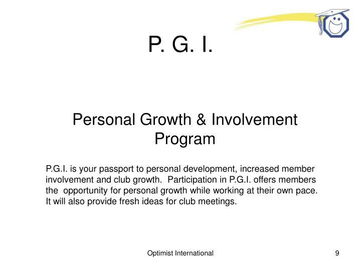 P. G. I.
