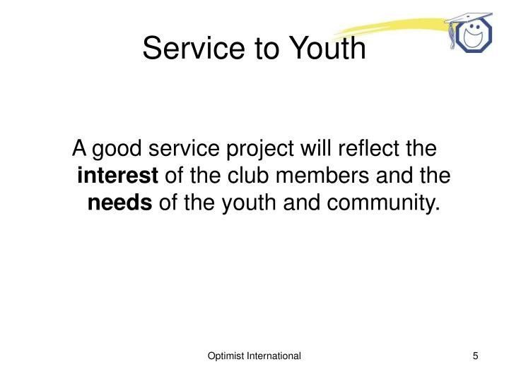 Service to Youth