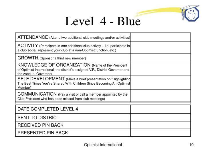 Level  4 - Blue
