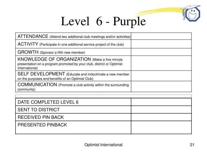 Level  6 - Purple