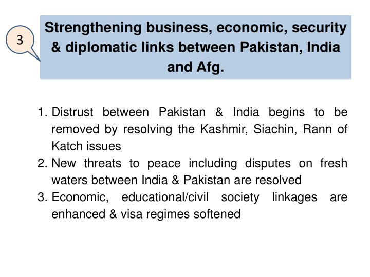 Strengthening business, economic, security & diplomatic links
